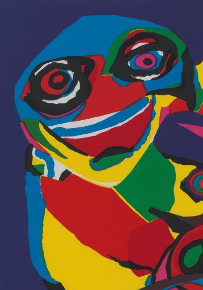 20th C Appel Karel 1921 2006 Masks Artist Proof Screen Print Framed Signed