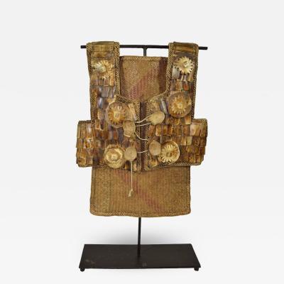 20th C Dayak Bone Rattan Chest Plate