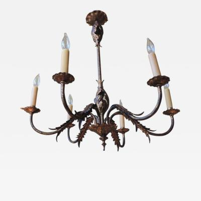 20th C Spanish Gilt and Tole Barcelona Chandelier