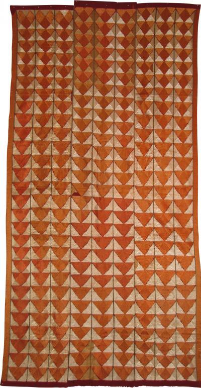 20th C wedding shawl phulkari silk embroidered