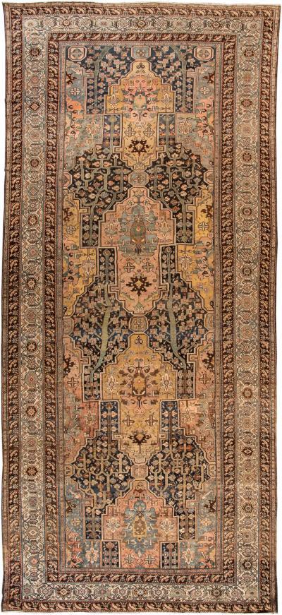 20th Century Antique Bakhtiari Rug 11 X 25