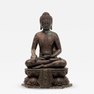 20th Century Bronze Buddha Sculpture