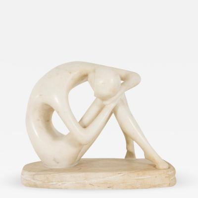 20th Century Figural White Marble Sculpture