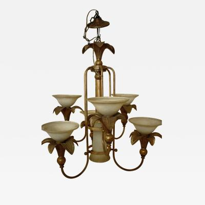 20th Century Hollywood Regency Style Italian Chandelier