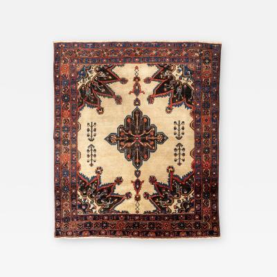 20th Century Persian Wool Rug Afshar with Ethnic Design circa 1900