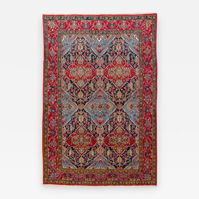 20th Century Persian Wool Rug Fine Tabriz Design circa 1950