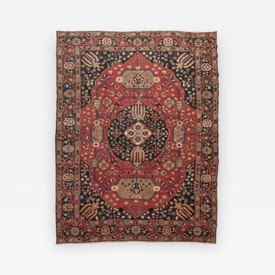 20th Century Persian Wool Rug Khorassan Medallion Design c 1900