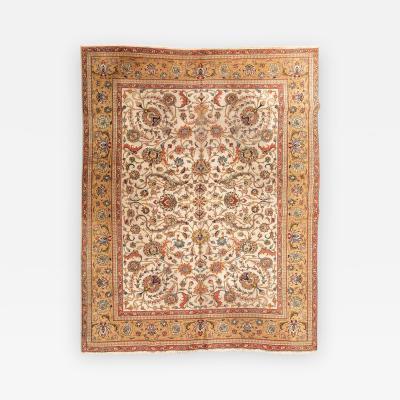 20th Century Persian Wool Rug Tabriz Design circa 1920