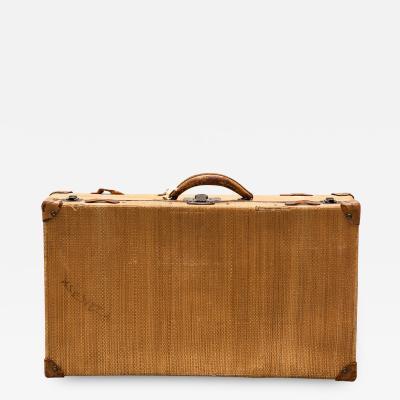 20th Century Rattan Suitcase