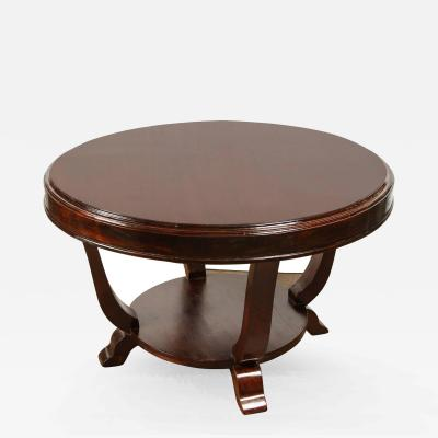 20th Century Rosewood Art Deco Center Table