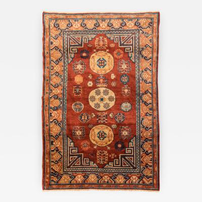 20th Century Samarkand Wool Rug Kothan Design in Caramel Colors