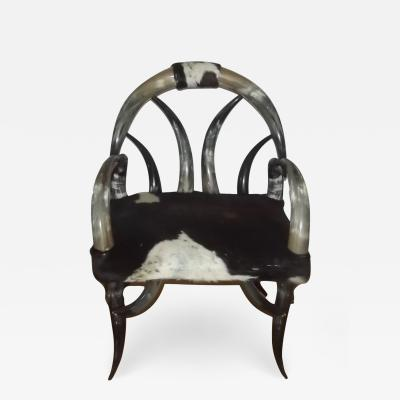 20th Century Steer Horn Chair