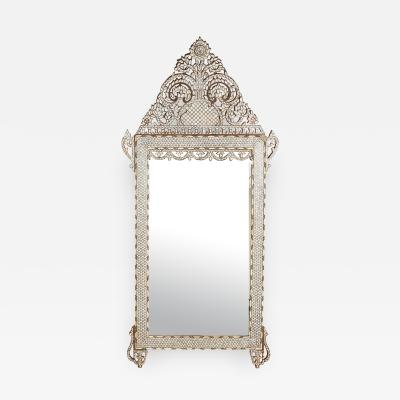 20th Century Syrian Mother of Pearl Inlaid Mirror