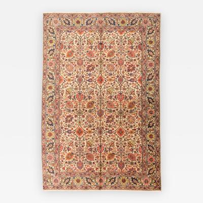 20th Century Tabriz Wool Rug Palmettes Design circa 1920