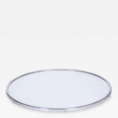 20th century Art Deco Czech Rotating tray with mirror