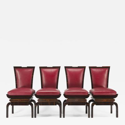 20th century Artdeco Czech Chairs 4 pcs