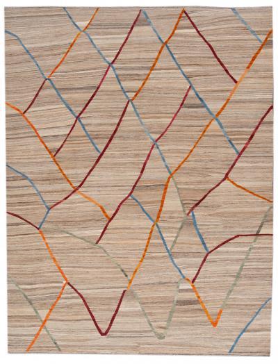 21st Century Contemporary Flatweave Kilim Wool Rug