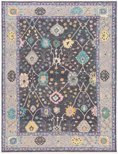 21st Century Contemporary Modern Oushak Style Wool Rug