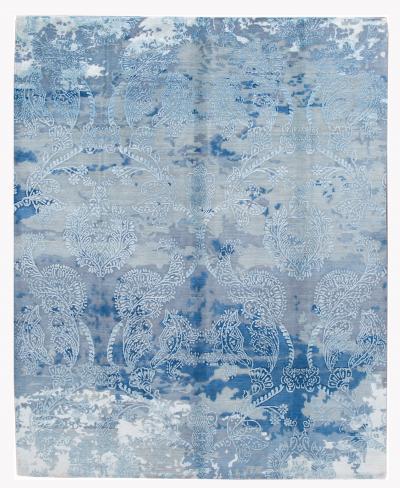 21st Century Contemporary Modernn wool silk Indian Rug
