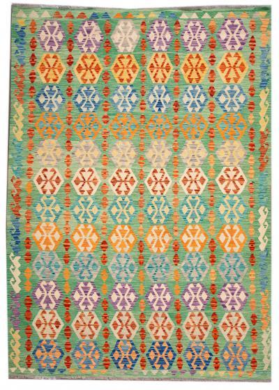 21st Century Modern Flatweave Kilim Wool Rug 8 x 12