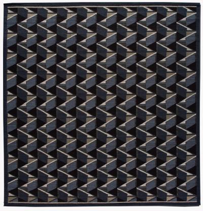 21st Century Modern Geometric Scandinavian Wool Rug