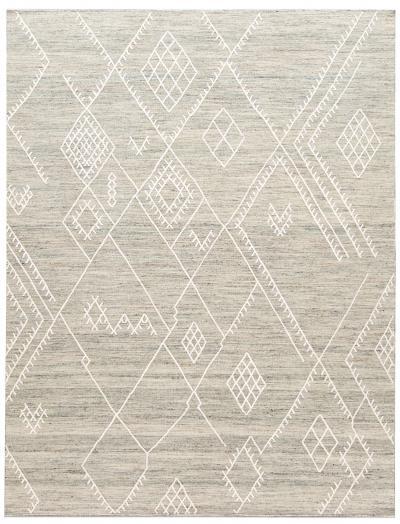 21st Century Modern Indian Flatweave Wool Rug 9 X 12