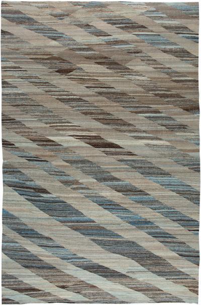 21st Century Modern Kilim Wool Rug 11 X 16
