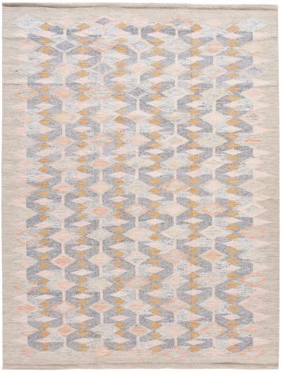 21st Century Modern Swedish Style Gray Wool Rug