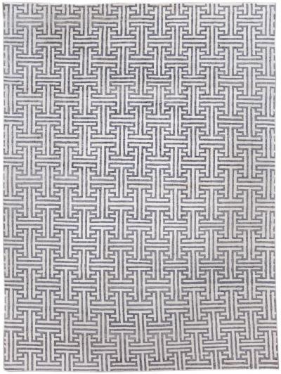 21st Century Modern Wool and Silk Rug 9 x 12