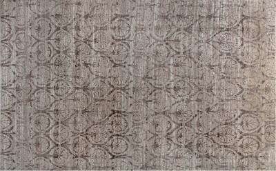 21st Century Traditional Inspired Brown and Purple Hand Knotted Rug