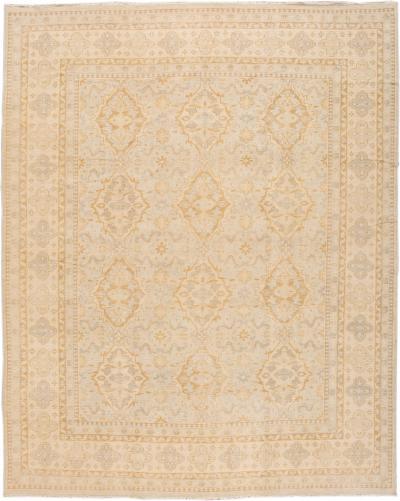 21st Century Vintage Style Oushak Oversize Wool Rug 12 x 15