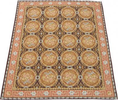 21th Century Fine Aubusson Woolen Area Rug