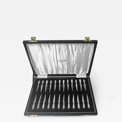 24 Cocktail Sticks Hors dOeuvres Picks original box James Dixon C 1920