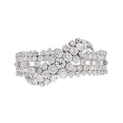 27 CARAT OLD MINE CUT DIAMOND BRACELET
