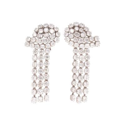 29 79 Carat Diamond Chandelier Platinum Earrings