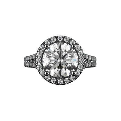 3 54 Carat Halo Round Diamond Engagement Ring 14K White Gold