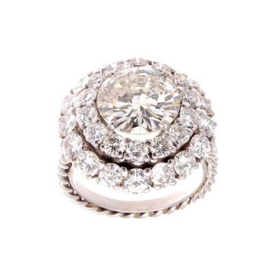 3 82 Carat Diamond Platinum Ring