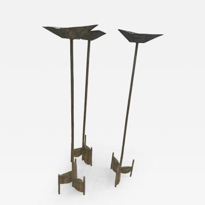 3 Brass Candleholders
