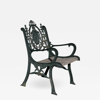 3 Vintage Victorian Neo Classical Style Heavy Iron Garden Chair