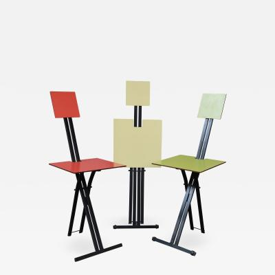 3 lacquered chairs by Formanova Italy 60