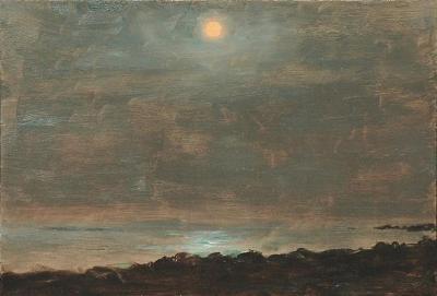 Lockwood De Forest Full Moon Over York Harbor Maine 1906