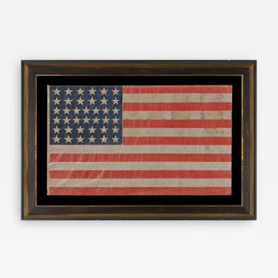 38 STAR ANTIQUE AMERICAN PARADE FLAG