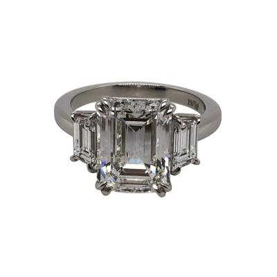 4 11 ct emerald cut diamond ring