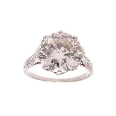 4 92 Carat Diamond Platinum Engagement Ring