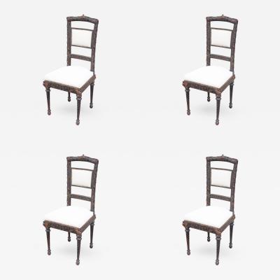 4 Chairs Napoleon II Period France XIXth Century