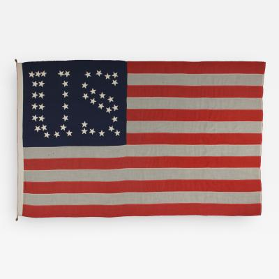 44 Star Flag with Stars That Form the Letters U S