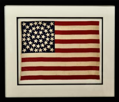 45 Star Flag with Medallion Star Arrangement Circa 1896