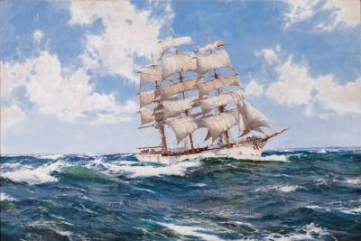 Montague Dawson Nearing Home The HELICON