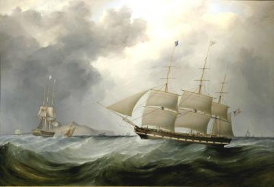 Samuel Walters American Packet CHAMPLAIN On Approach to Liverpool c 1838