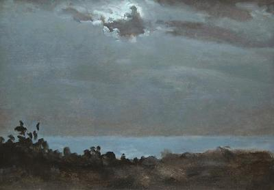 Lockwood De Forest Single Cloud Over Moon 1906